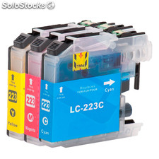 Pack 3 tintas compatibles con Brother LC223C LC223M LC 223Y