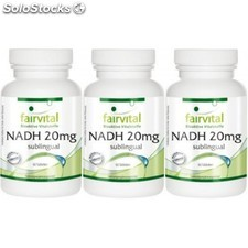 Pack 3 u. Nadh 20 mg 60 tabletas sublingual