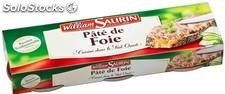 Pack 3X1/10 pate foie william saurin