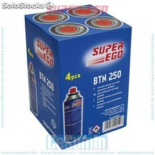 Pack 4 cartuchos gas camping 250 - super ego -Ref:PSEH03800