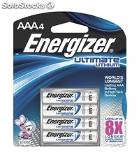 Pack 4 Pilas Energizer Lithium Ultimate AAA LR03