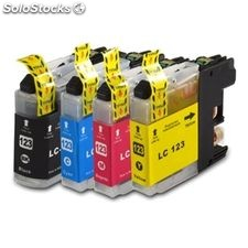 Pack 4 tintas compatibles Brother LC123B LC123Y LC123M LC123C V3