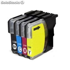 Pack 4 tintas compatibles Brother LC985C LC985M LC985Y LC985B