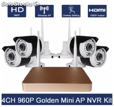 Pack 4 wifi camera+ nvr wifi dore+souris
