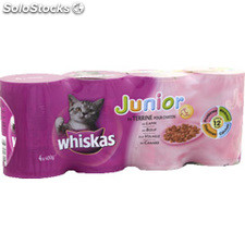 Pack 4X1/2 chaton canard/vo/boeuf/lapin whiskas