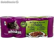 Pack 4X1/2 varies eminces en gele whiskas
