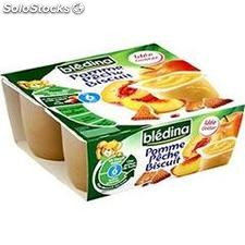 Pack 4X100 biscuit pomme/peche bledina