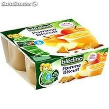 Pack 4X100G compotine pomme/biscuit bledina