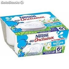 Pack 4X100G p'tit onctueux fromage blanc nestle