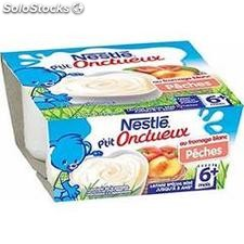 Pack 4X100G p'tit onctueux fromage blanc peche nestle