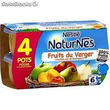 Pack 4X130G naturnes fruit du verger nestle