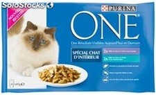 Pack 4X85G one chaton int veau/thon purina one