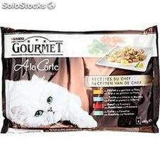 Pack 4X85G poulet/boeuf/poisson gourmet
