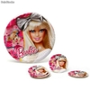 Pack 5 Platos Desechables Barbie (23 cm)