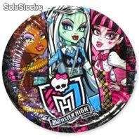 Pack 5 Platos Desechables Monster High (20,5 cm)