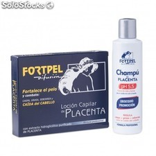 Pack 6 ampollas placenta + champu placenta 200ml fortpel