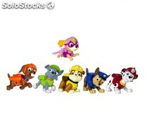 Pack 6 figurines paw patrol
