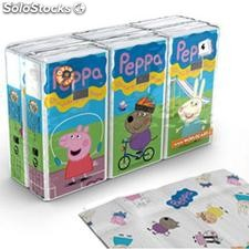 Pack 6 Paquetes Pañuelos Peppa Pig