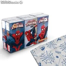 Pack 6 Paquetes Pañuelos Spiderman