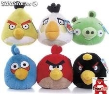 Pack 6 Peluches de Angry Birds (15cms)