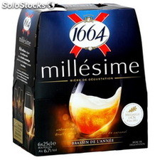 Pack 6X25CL biere 1664 millesime 2014