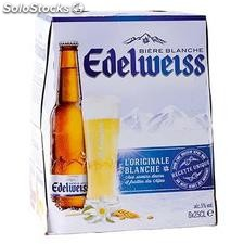 Pack 6X25CL biere edelweiss blanche