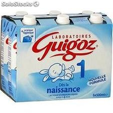 Pack 6X500ML guigoz 1E age nestle
