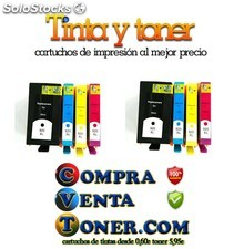 Pack 8 Hp 920xl cartuchos de tinta compatibles