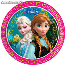 Pack 8 platos fiesta Frozen Disney