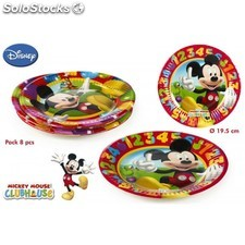 Pack 8 platos mickey