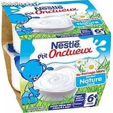 Pack 8X100G p'tit onctueux fromage blanc nature nestle