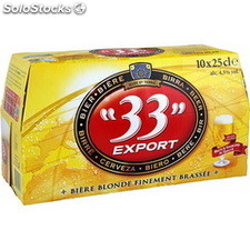 """Pack blle 10X25CL biere """"33""""export"""