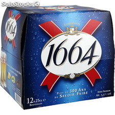Pack blle 12X25CL biere 1664