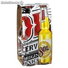 Pack blle 4X33CL biere sol mexique 4.5°