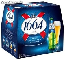 Pack bte 10X25CL biere 1664 5,5°