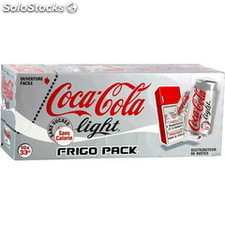 Pack bte 10X33CL coca cola light frigo