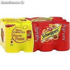 Pack bte 12X15CL agrumes schweppes