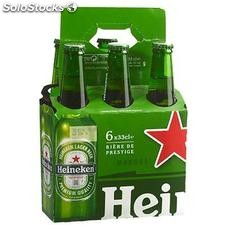 Pack bte 6X33CL basket heineken 5°