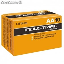 Pack de 10 pilas duracell industrial ID1500 - 1.5V - alcalina AA