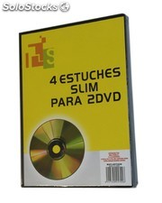 Pack de 4 estuches SLIM para 2 DVD´s de color negro