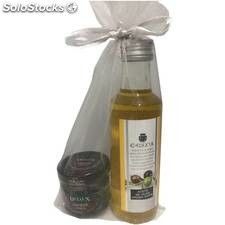 Pack de aceite 100ml y mermelada de cerezas para regalar