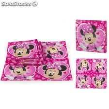 Pack de de 20 Serviettes Jetables MINNIE - (33 x 33cm)