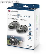 Pack doble Interphone Tour, intercomunicador moto-moto