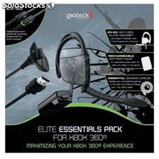 Pack Elite Gioteck auricular EX03 + bateria-cable usb + cable