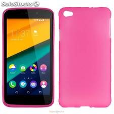 Pack Funda Silicona Wiko Pulp Rosa (10 uds)