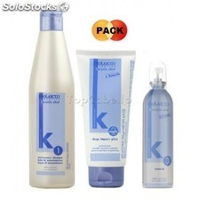 Pack keratin-shot (champú keratina 500ml + mascarilla 200ml + serum