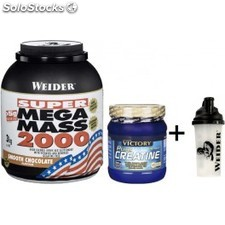 Pack Mega Mass 2000 3 kg + Pure Creatine 500 gr