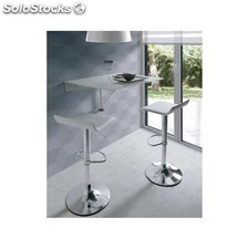 Pack mesa cocina plegable + 2 taburetes altos