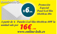 Pack Panel LED Slim Extrafino 60x60mm 40W