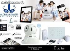 Pack securite totale: systeme d'alarme + camera wifi